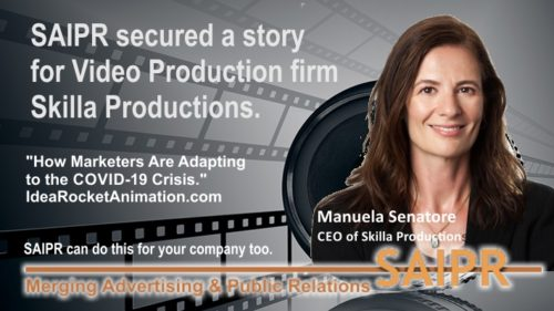 """Skilla Productions owner Manuela Senatore was an expert for an article titled, """"How Marketers Are Adapting to the COVID-19 Crisis."""""""